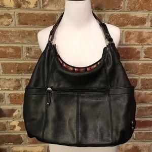 Gorgeous Tignanello Black Leather Hobo Bag